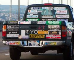 Bumper Sticker Truck Of The Day « Dvorak News Blog