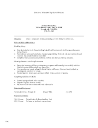 Example Resume For High School Graduate Objective Examples How To Write A