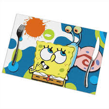 Amazon.com: LIUYAN Placemats Spongebob Squarepants Placemat ...