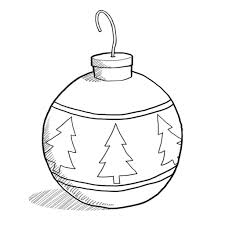 Drawing Of Christmas Ornaments Black And White Clip Art Decorating Ideas