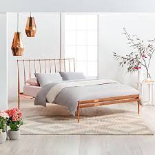 Featuring Coppa Queen Bed Frame With Electro Played Copper