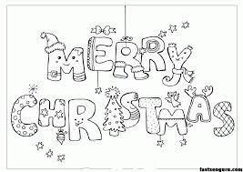 Printable Coloring Christmas Pages