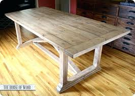 Dining Room Table Plans Rustic Yet Refined X Farmhouse Style