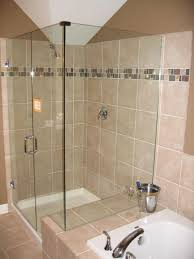 simply chic bathroom shower tile designs beige painting wall and