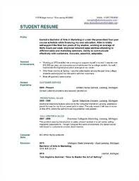 College Student Resume Templates Template Builder
