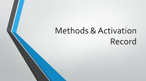 Mathceil Java Meaning by Methods U0026 Activation Record Recap What U0027s A Method Ppt Download