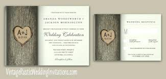 Amazing Wedding Invitations With Trees And Tree Vintage Rustic 22 Uk