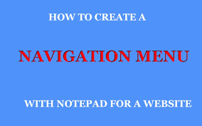 How To Create A Website Navigation Menu With Notepad - YouTube Responsive Navigation Menu Bar Html Css Jquery Youtube Drmweaver Horizontal Spry Explained In Depth Drop Top Bar Html Wikiwebdircom Css Form Tag Breaks Navigation On Google Chrome Only Down 1 Of 2 With And Move Ajax Search From Top To Main Header 10 Selling Soaps Tag Rated Soap Soaps How Unlock Blogger Widgets Georgia Lou Studios Manage Rambo Theme Webriti Help Centre