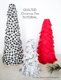 Pine Cone Christmas Tree Tutorial by No Sew Quilted Christmas Trees Simple Simon And Company