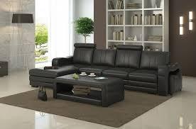 canapé d angle en cuir italien 5 places romana noir mobilier privé