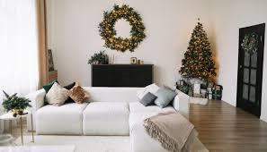 weihnachtsdeko idee modernes wohnzimmer mit deko