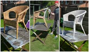 60 minute makeover Spray Painting our Nursery Wicker Chair – WELL