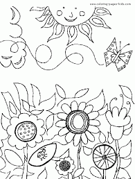 Flower Garden Coloring Pages Page