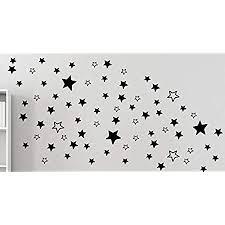 mabi in design 120 sterne wandtattoo aufkleber wohnzimmer schlafzimmer fenster b289 v schwarz