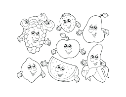 Fruit Printable Coloring Pages Fruits And Vegetables Color