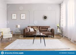 100 Interior Decorations Minimal Design Of Living Room With Brown Leather