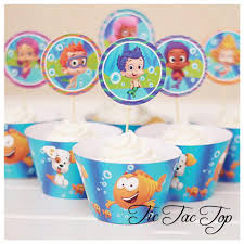 unique bubble guppies cupcake wrappers toppers