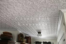 countryfolk keepsakes my faux white tin tile kitchen ceiling is