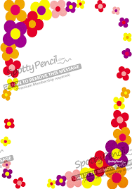Flower Paper Border Power Printable Party Invitation Spottypencil Com