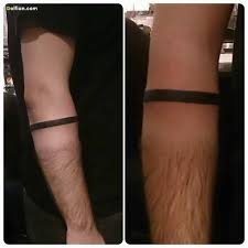 Simple Line Lower Armband Tattoo Made By Expert