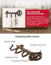 Decorative Key Holder For Wall by Amazon Com Decorative Wall Mounted Skeleton Key Holder Vintage