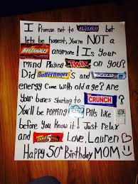 50th Birthday Candy Poster Board So Cute And Easy