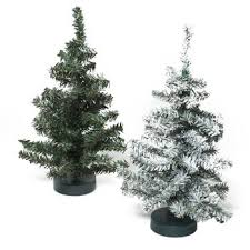 12 Inch Fake Christmas Tree Canadian Pine Green Or Snow Covered