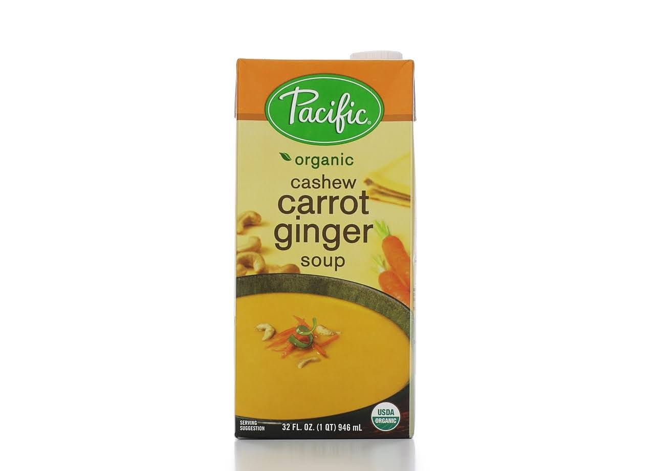 Pacific Foods Organic Soup - Cashew, Carrot & Ginger