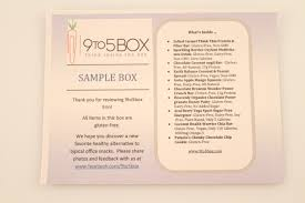 Healthy Office Snacks To Share by 9 To 5 Box Review Discount Work Snack Subscription Box
