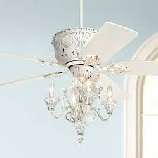 Shabby Chic White Ceiling Fans by Casa Deville Candelabra Ceiling Fan Style 87534 45518 01464