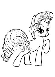 My Little Pony Rarity Coloring Pages For Kids Printable Free