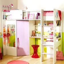 lit mezzanine avec placard combin lit bureau penderie fille neuf