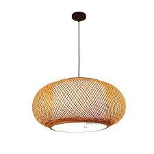 asien chinesischen anhänger le handgemachte kronleuchter reine natürliche bambus hängen drop esszimmer holz lichter buy anhänger le