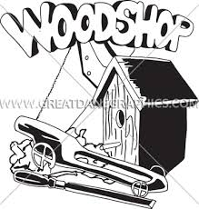 Woodworking Shop Tools Clip Art