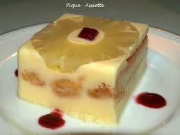 dessert avec des boudoirs gateau sans cuisson a l ananas voir cercle fond ananas et cerise