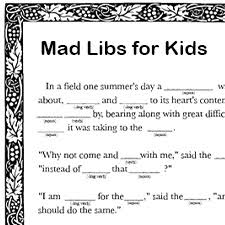 Halloween Mad Libs Pdf by Free Printable Mad Libs For Kids
