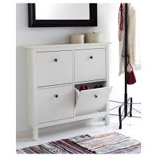 Free Standing Storage Cabinets Ikea by White Wooden Cube Pull Out Shoe Storage Organizer Beside Black
