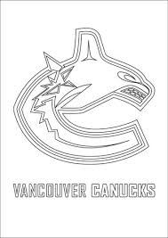 Click To See Printable Version Of Vancouver Canucks Logo Coloring Page