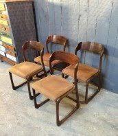 chaise traineau baumann chaise baumann