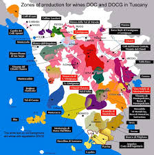 Map Zone Of Production For Wines DOC And DOCG In Tuscany