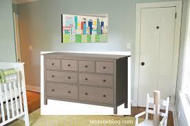 Hemnes 3 Drawer Dresser As Changing Table by Ten June Nursery Update Ikea Dresser Turned Changing Table