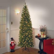 75 Slim Flocked Christmas Tree by Slim Christmas Trees You U0027ll Love Wayfair