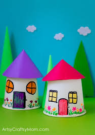 Recreate Your Childhood Memories With This Paper Cup Miniature Village Craft