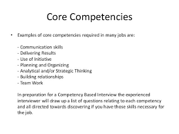 Competencies List For Resume by Competency Exles In Resume