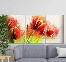 wandbild modern moderno flores abstractas