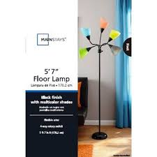 Mainstays Floor Lamp Assembly Instructions by Mainstays 5 Light Floor Lamp Walmart Com