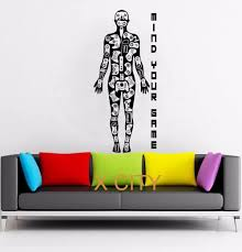 Video Games Gamer Body Xbox Playstation Wii WALL ART GRAPHIC STICKER DIE CUT VINYL DECAL HOME BEDROOM DECOR STENCIL MURAL In Wall Stickers From Home