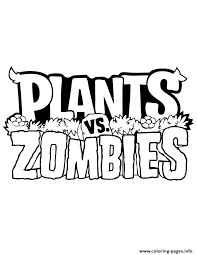 Logo 2 Plants Vs Zombies Coloring Pages Print Download 403 Prints