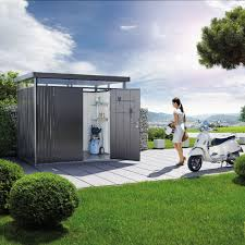 Titan Garages And Sheds by Biohort Heavy Duty Metal Shed Highline H3 Double Doors Gazebo