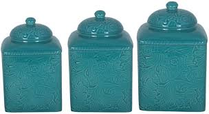 Savannah Turquoise Kitchen Canister Set by Dinnerware U0026 Serving Dishes Kitchen Dining U0026 Bar Home U0026 Garden